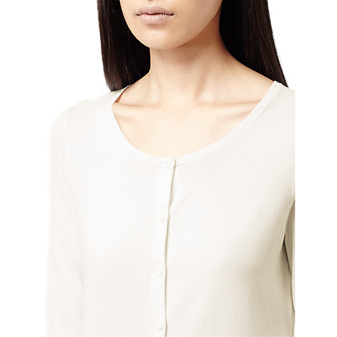 Buy Reiss Crew Neck Cardigan, Cream Online at johnlewis.com
