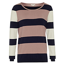 Buy Reiss Cloudly Stripe Jumper, Navy Online at johnlewis.com
