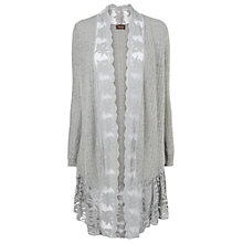 Buy Phase Eight Catrin Lace Trim Cardigan, Grey Online at johnlewis.com