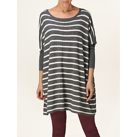 Buy Phase Eight Catherine Jumper, Grey/Ivory Online at johnlewis.com