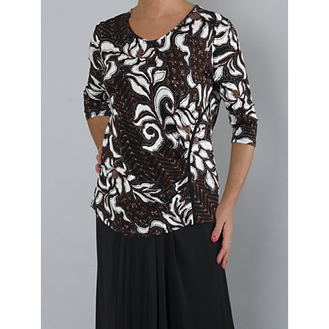 Buy Chesca Floral Top, Chestnut Online at johnlewis.com