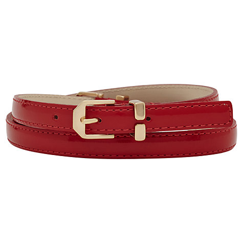 Buy Reiss Ivy Double Buckle Belt, Red Online at johnlewis.com