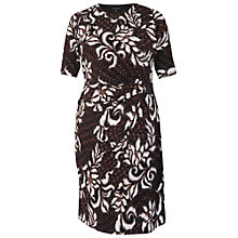 Buy Chesca Abstract Jersey Dress, Chestnut Online at johnlewis.com