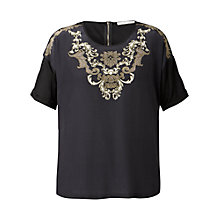 Buy Gérard Darel Silk Blouse, Black Online at johnlewis.com