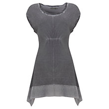 Buy Mint Velvet Overdye Knit Tunic Top, Grey Online at johnlewis.com