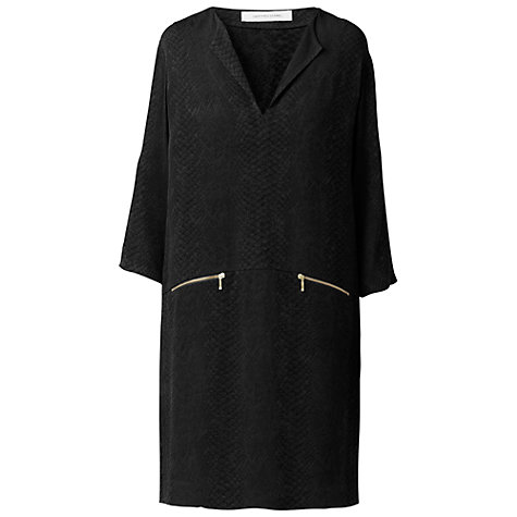 Buy Gérard Darel Croco Jacquard Weave Textured Dress, Black Online at johnlewis.com