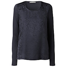 Buy Gérard Darel Leopard Print T-Shirt, Blue Online at johnlewis.com