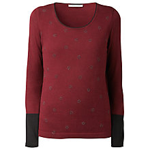 Buy Gérard Darel Star Top, Burgundy Online at johnlewis.com