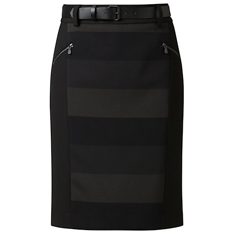 Buy Gérard Darel Stripe Print Skirt, Black Online at johnlewis.com