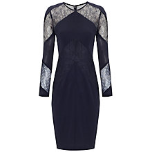 Buy Whistles Alma Lace Insert Dress, Navy Online at johnlewis.com
