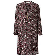 Buy Gérard Darel Silk Geometric Print Dress, Red Online at johnlewis.com