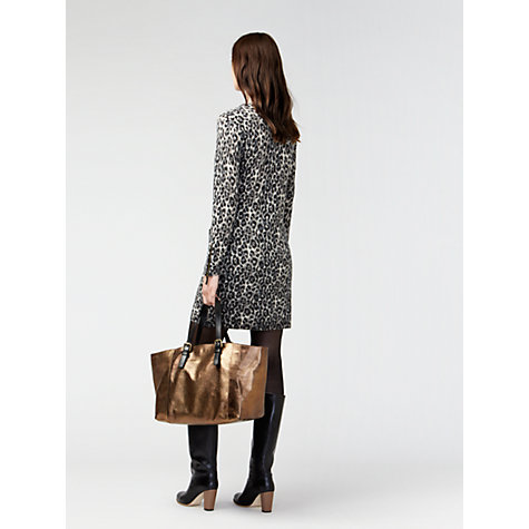 Buy Gérard Darel Wool Leopard Print Dress, Khaki Online at johnlewis.com