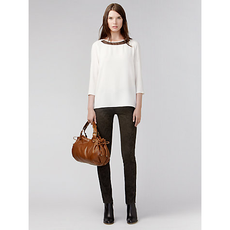 Buy Gérard Darel Jewel Collar Blouse, Ecru Online at johnlewis.com