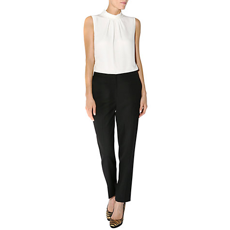 Buy Hobbs Gelsey Trousers, Black Online at johnlewis.com