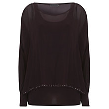 Buy Mint Velvet Double Layer Stud Top Online at johnlewis.com