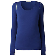Buy Gérard Darel Studded Jumper, Blue Online at johnlewis.com