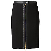 Buy Gérard Darel Centre Zip Pencil Skirt, Black Online at johnlewis.com