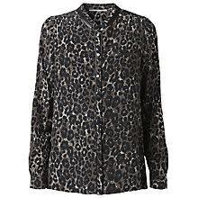 Buy Gérard Darel Leopard Print Shirt, Green Online at johnlewis.com