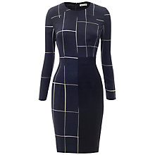Buy Whistles Slate Print Bodycon Dress, Navy Online at johnlewis.com