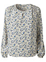 Buy Gérard Darel Silk Flower Print Blouse, Blue, 12 Online at johnlewis.com