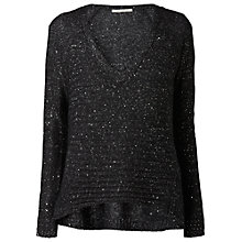 Buy Gérard Darel Sequinned Jumper, Black Online at johnlewis.com