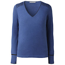 Buy Gérard Darel Sequinned Jumper, Blue Online at johnlewis.com