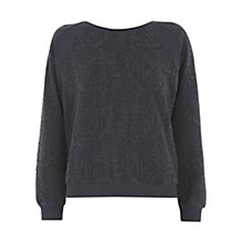 Buy Mint Velvet Sweat Jacquard Jumper, Blue Online at johnlewis.com