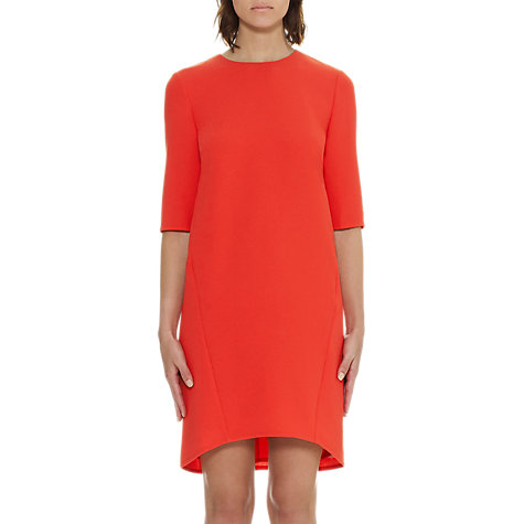 Buy Whistles Long Sleeve Sculptured Dress, Red Online at johnlewis.com