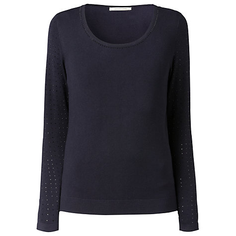 Buy Gérard Darel Shiny Jumper, Navy Online at johnlewis.com