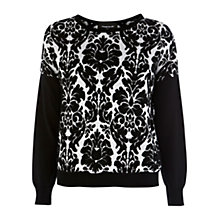 Buy Warehouse Quilted Baroque Sweatshirt, Black Online at johnlewis.com