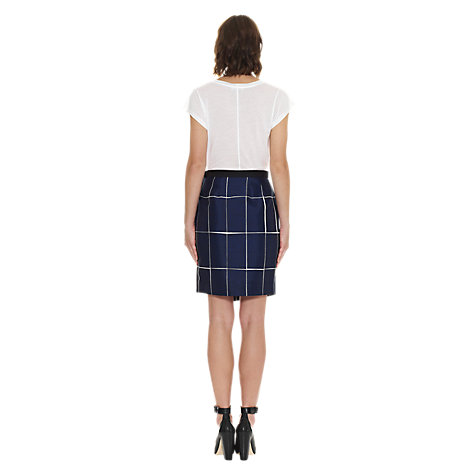 Buy Whistles Lara Slate Print Skirt, Navy Online at johnlewis.com