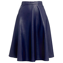 Buy Whistles Katia Circle Skater Skirt, Navy Online at johnlewis.com