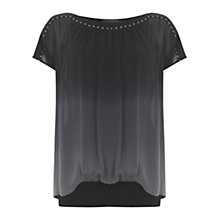 Buy Mint Velvet Ombre Stud Top, Midnight Blue Online at johnlewis.com