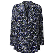 Buy Gérard Darel Geometric Print Blouse, Blue Online at johnlewis.com