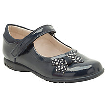 Buy Clarks Trix Dazzle Patent Leather Shoes, Navy Online at johnlewis.com