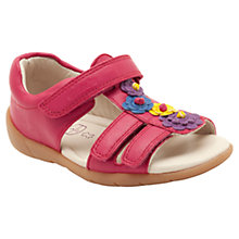 Buy Clarks Soft Rio Sandals, Raspberry Online at johnlewis.com