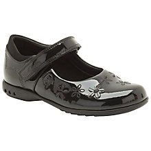 Buy Clarks Children's Breena Toes Shoes, Black Online at johnlewis.com