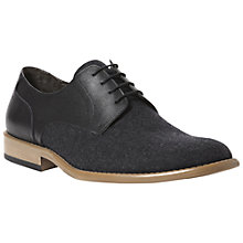 Buy Dune Blade Felt & Leather Derby Shoes, Grey Online at johnlewis.com