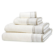 Buy John Lewis White Shop Puritan Pleats Towels, Putty / Oyster Online at johnlewis.com