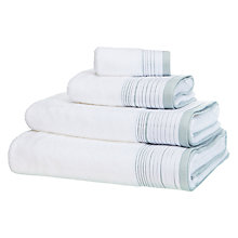 Buy JL White Shop Puritan Pleats Towels Online at johnlewis.com