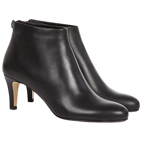 Buy Hobbs Elizabeth Ankle Boots, Black Online at johnlewis.com