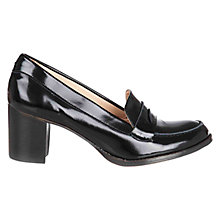 Buy NW3 by Hobbs Brigitte Court Shoes, Black Patent Online at johnlewis.com