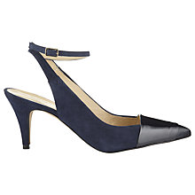 Buy Whistles Lana Slingback Ankle Back Court Shoes, Navy Online at johnlewis.com