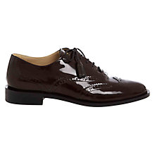 Buy Hobbs London Agatha Brogue Shoes, Burgundy Online at johnlewis.com