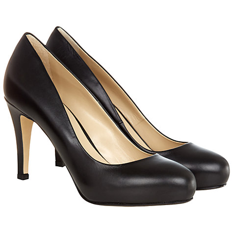 Buy Hobbs London Lois Court Shoes, Black Online at johnlewis.com