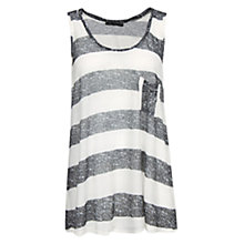 Buy Mango Striped Top, Natural White Online at johnlewis.com