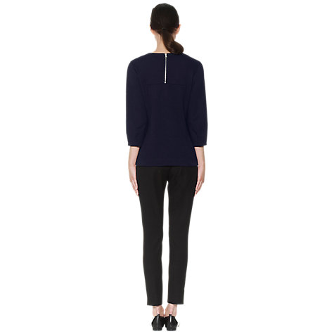 Buy Whistles Becky Sculptured Top, Navy Online at johnlewis.com