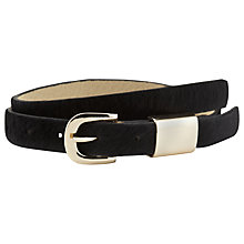 Buy Whistles Metal Tube Calf Hair Belt Online at johnlewis.com