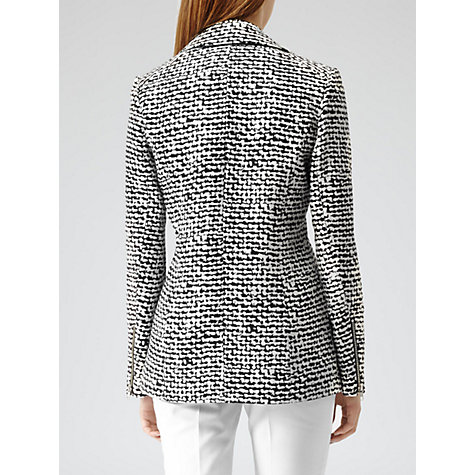 Buy Reiss Sky Print Jacket, Black/White Online at johnlewis.com