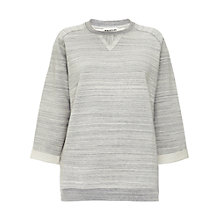 Buy Whistles Rosa Textured Sweatshirt, Grey Online at johnlewis.com